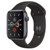 تصویر ساعتهوشمند اپل Apple Watch سری 5 GPS | بدنه آلومینیوم خاکستری، بند اسپورت مشکی، 44 میلیمتر