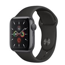 تصویر ساعتهوشمند اپل Apple Watch سری 5 GPS | بدنه آلومینیوم مشکی، بند اسپورت مشکی، 40 میلیمتر