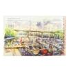 تصویر دفتر طراحي 30 برگ لاين نوت مدل هنرمندان طرح City1