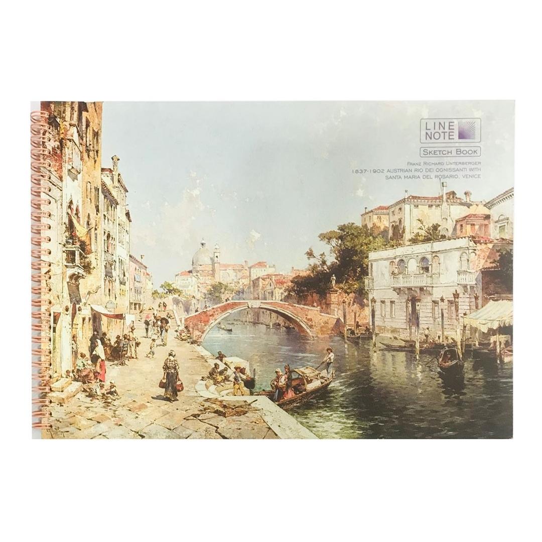 تصویر دفتر طراحي 30 برگ لاين نوت مدل هنرمندان طرح City2