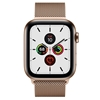 تصویر ساعتهوشمند اپل Apple Watch سری 5 GPS + Cellular | بدنه استیل طلایی، حلقه میلانی، 44 میلیمتر