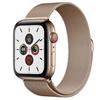 تصویر ساعتهوشمند اپل Apple Watch سری 5 GPS + Cellular | بدنه استیل طلایی، حلقه میلانی، 40 میلیمتر