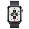 تصویر ساعتهوشمند اپل Apple Watch سری 5 GPS + Cellular | بدنه استیل مشکی، حلقه میلانی، 44 میلیمتر