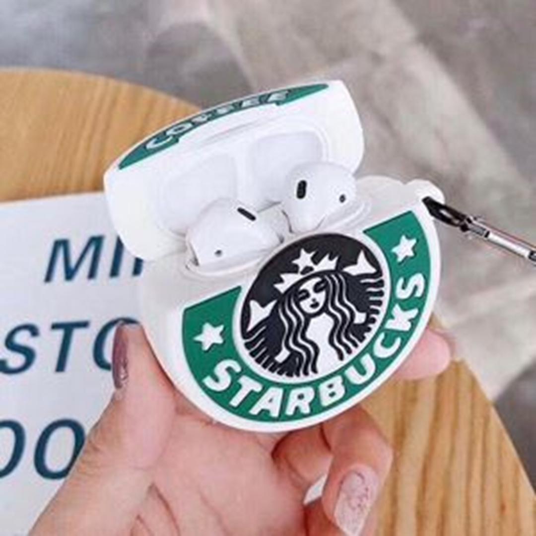 تصویر کاور ایرپادز طرح Starbucks