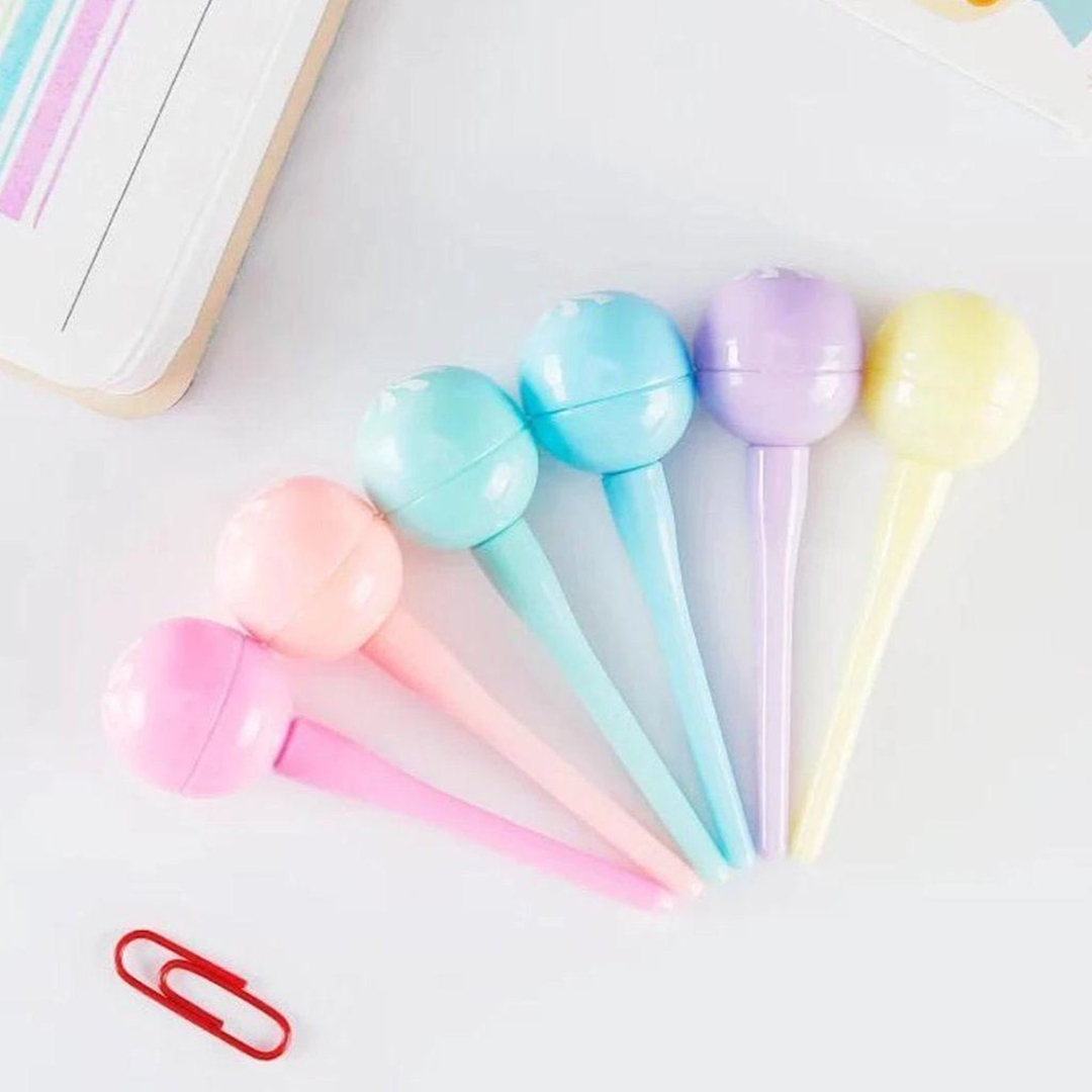 تصویر هایلایتر Lollipop آبنباتی | 6 عددی