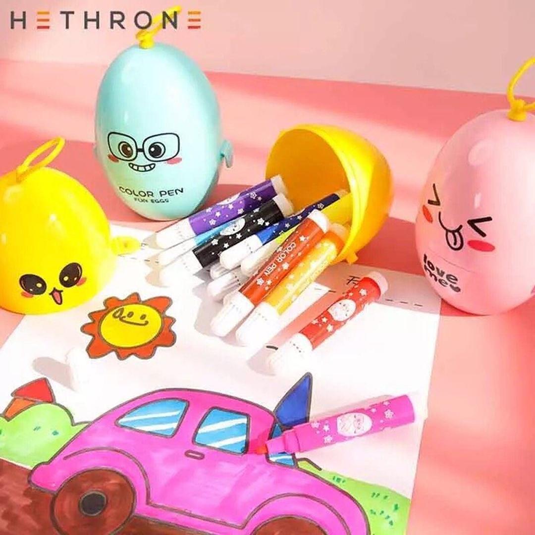 تصویر ماژیک رنگ آمیزی 12 رنگ تحم مرغی