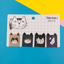تصویر بوک مارک مگنتی 4 عددی طرح گربه