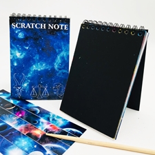 تصویر دفتر جادویی Scratch Note طرح کهکشان