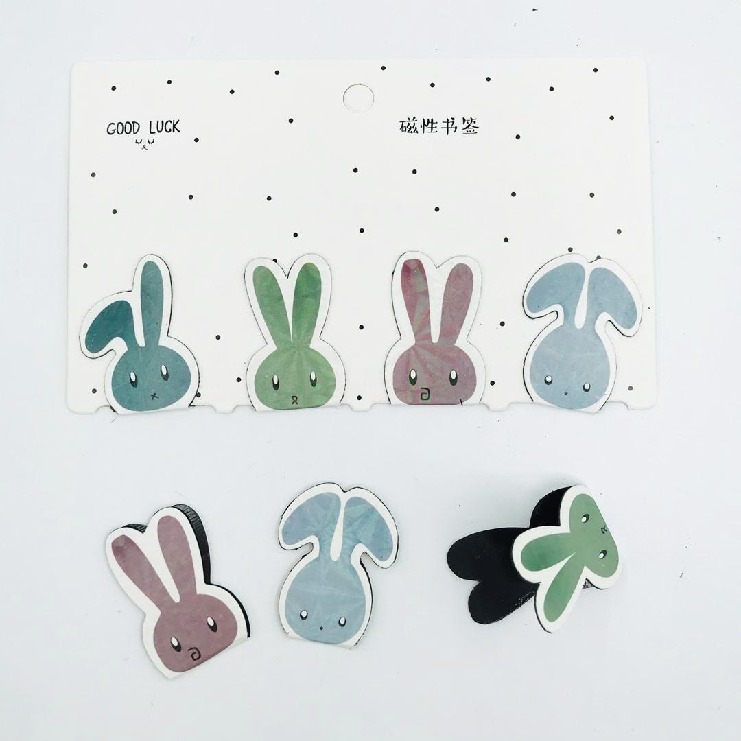 تصویر بوک مارک مگنتی 4 عددی طرح خرگوش