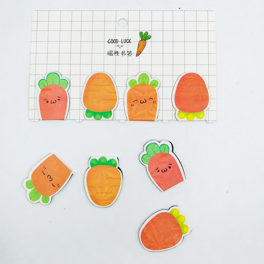 تصویر بوک مارک مگنتی 4 عددی طرح هویج