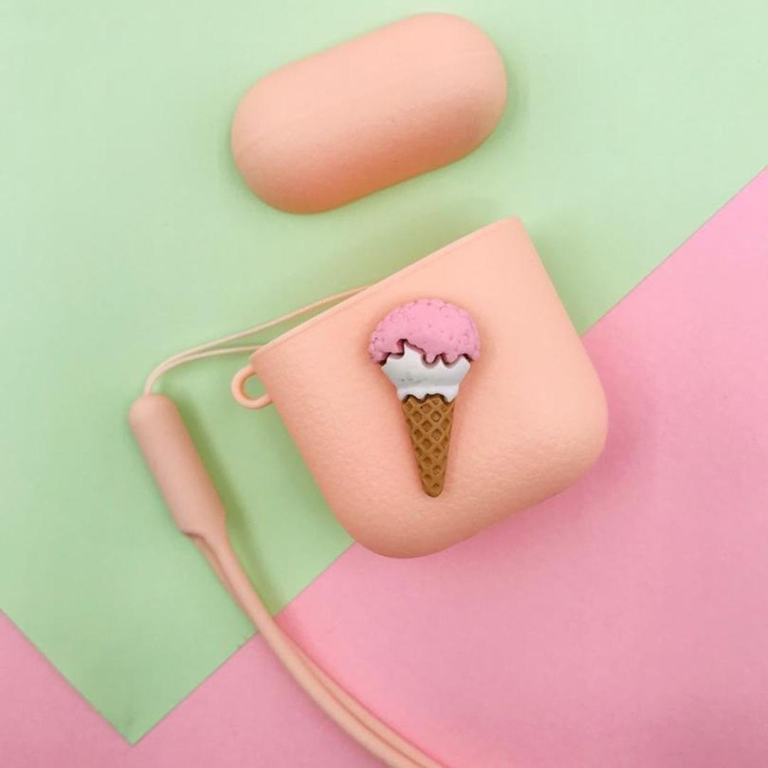تصویر کاور ایرپادز طرح بستنی قیفی