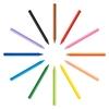 تصویر مداد شمعی 12 رنگ بیک مدل Plastidecor