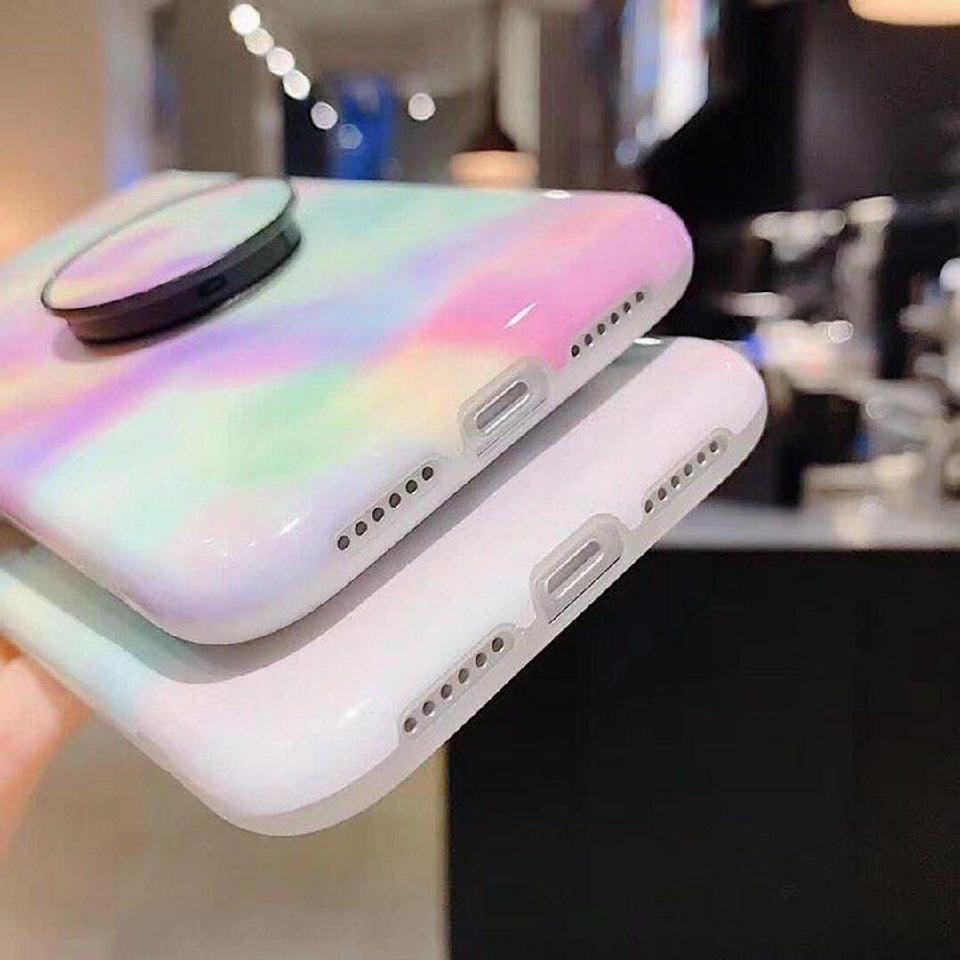تصویر گارد موبایل پاستلی پاپ سوکت دار