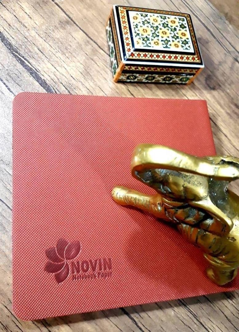 تصویر دفتر یادداشت نوین مدل جلد ترمو مربع