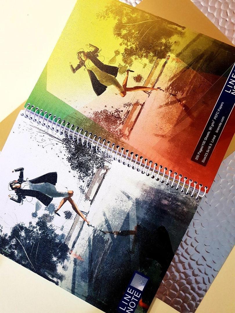 تصویر دفتر صد برگ لاین نوت وزیری طرح هدفون