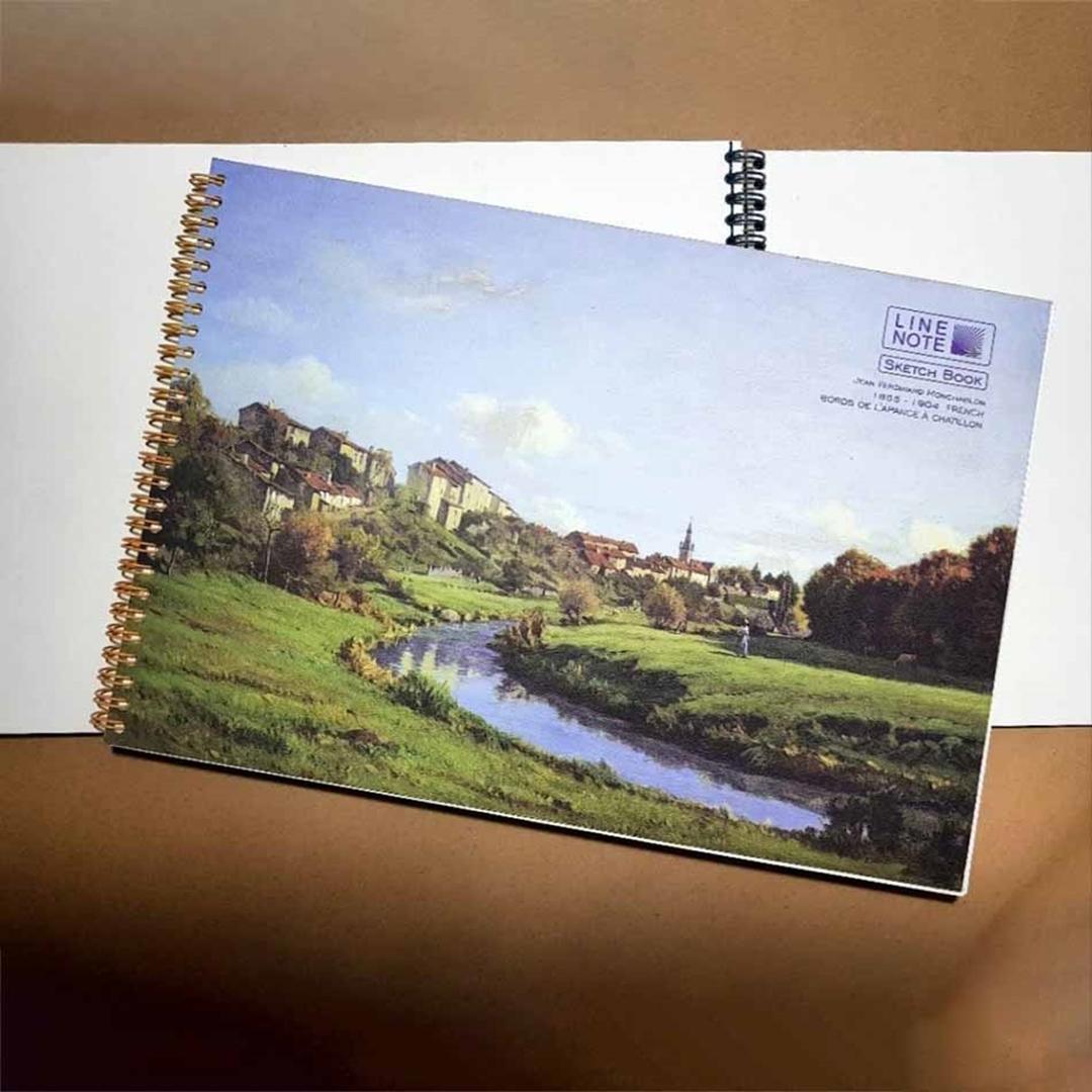 تصویر دفتر طراحي 30 برگ لاين نوت مدل هنرمندان طرح Farm