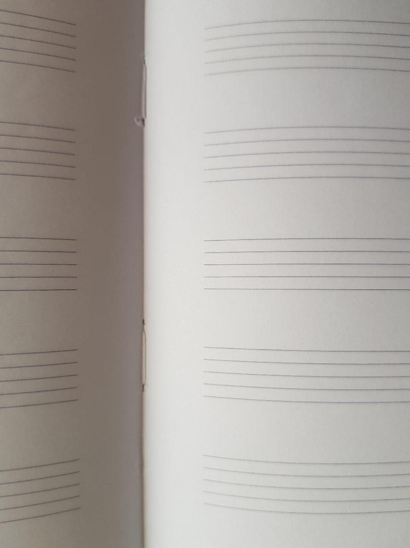 تصویر دفتر نت موسیقی لاین نوت طرح فدریکو آندروتی