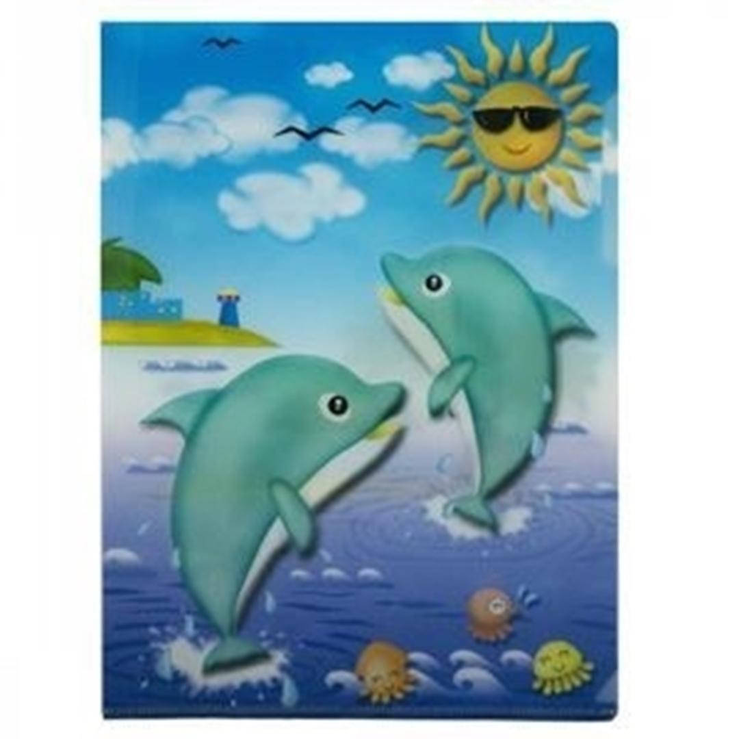 تصویر پوشه A4 پاپکو بسته 4 عددی طرح قلب و اقیانوس