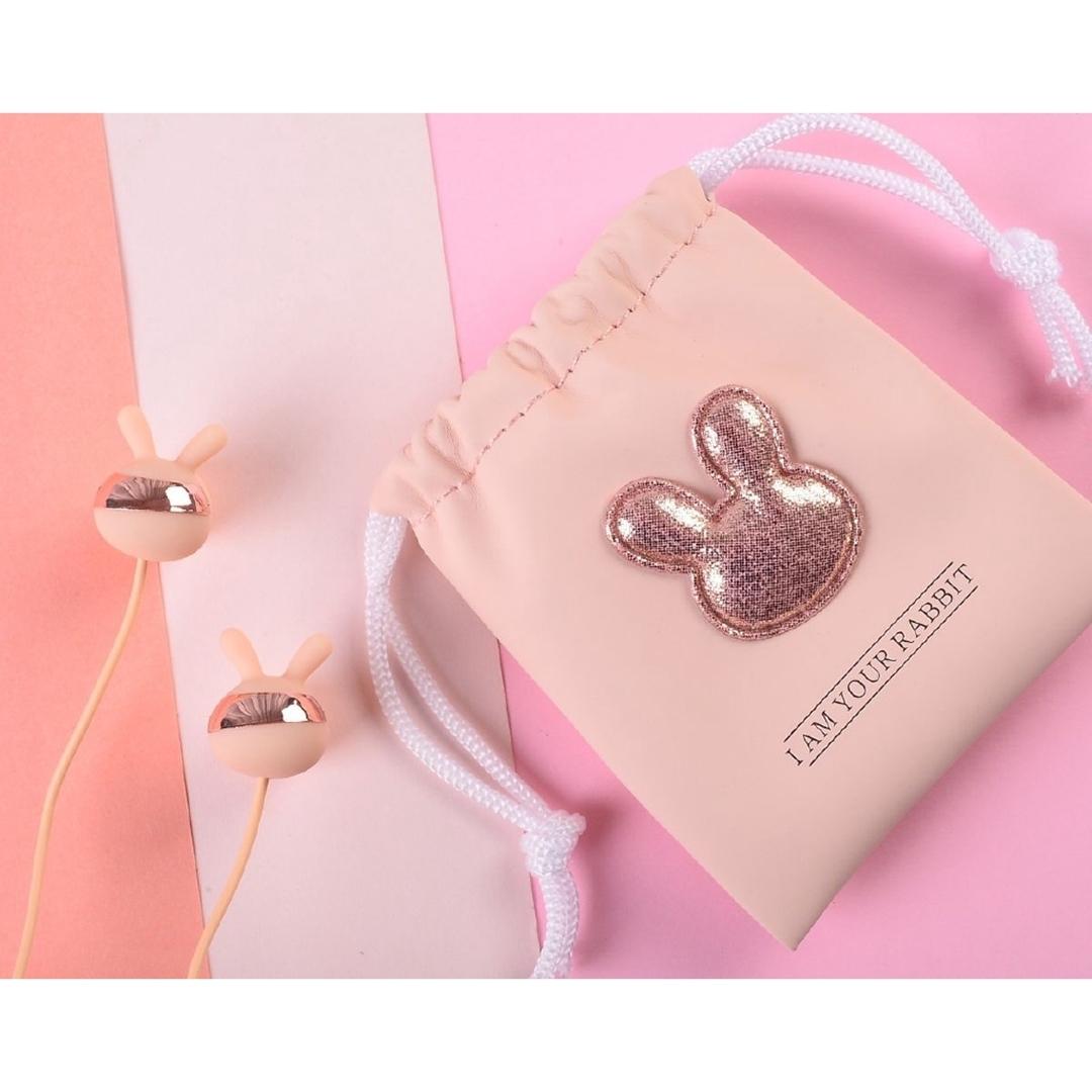 تصویر هندزفری با کیف طرح خرگوش