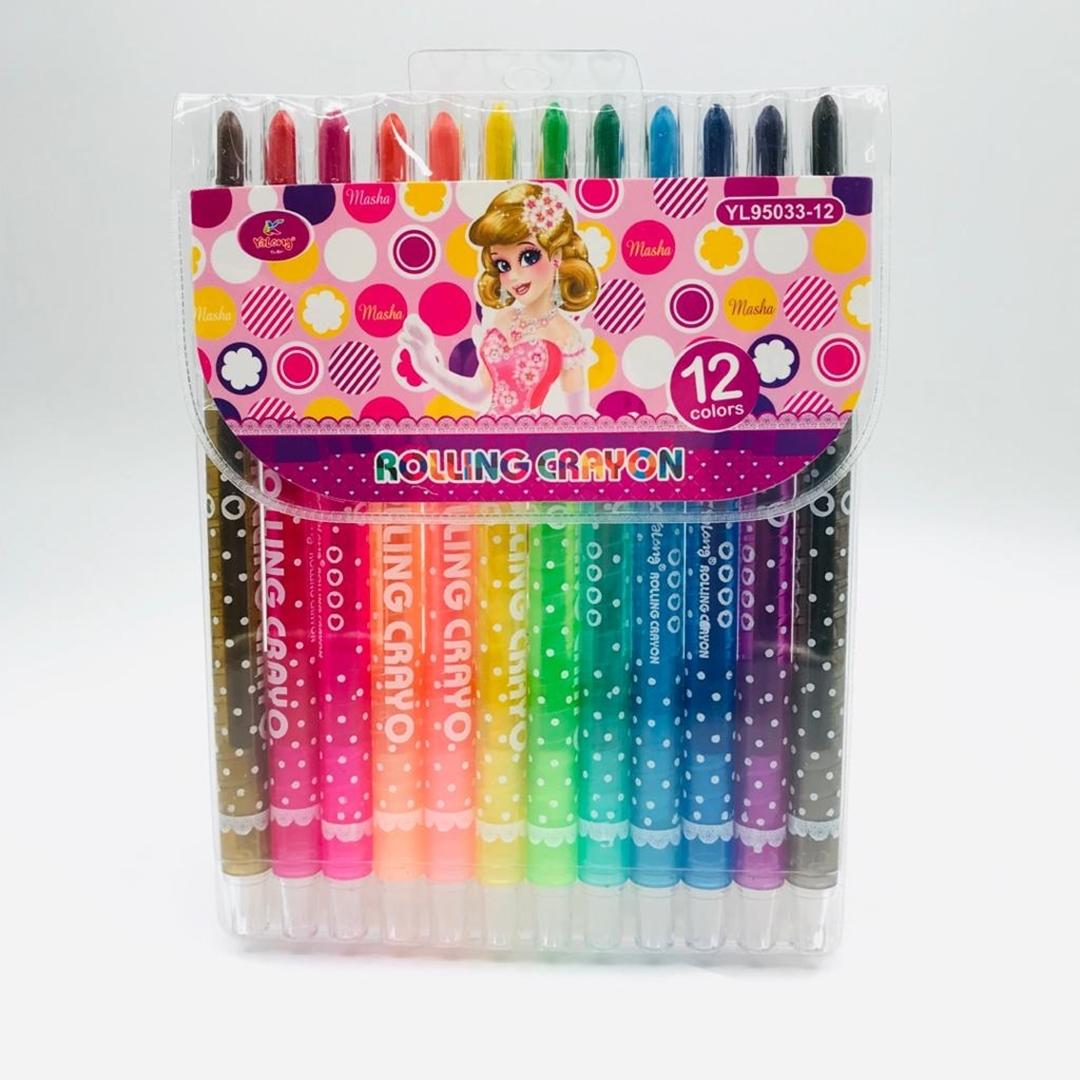 تصویر مداد شمعی 12 رنگ يالونگ مدل YL95033