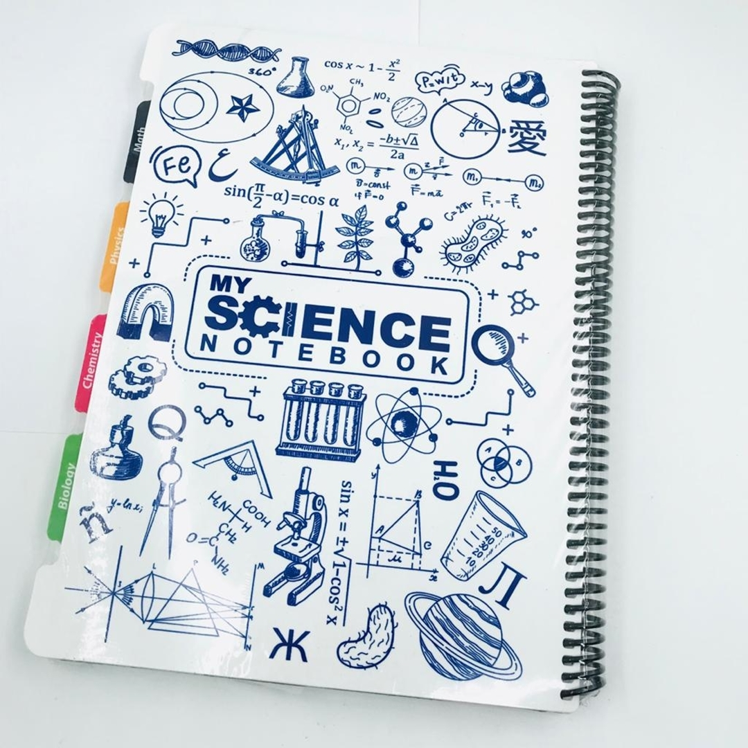 تصویر دفتر رحلی 120 برگ My Science