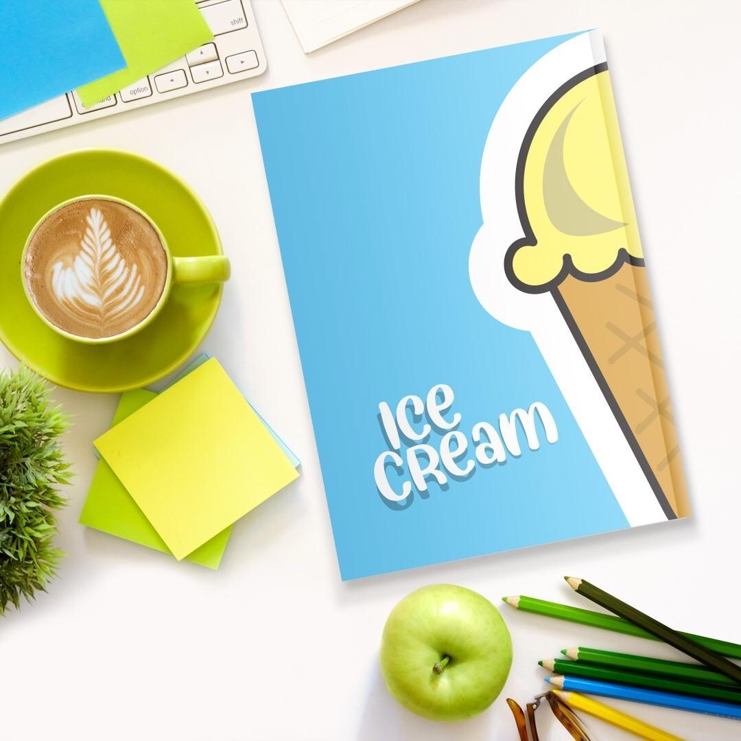 تصویر دفتر تاپیک طرح بستنی و دونات