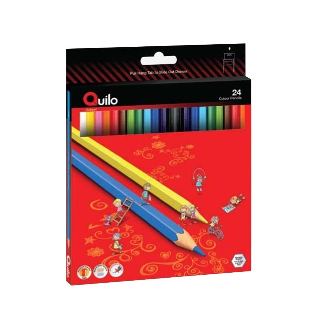 تصویر مداد رنگی 24 رنگ کوییلو   جعبه مقوایی
