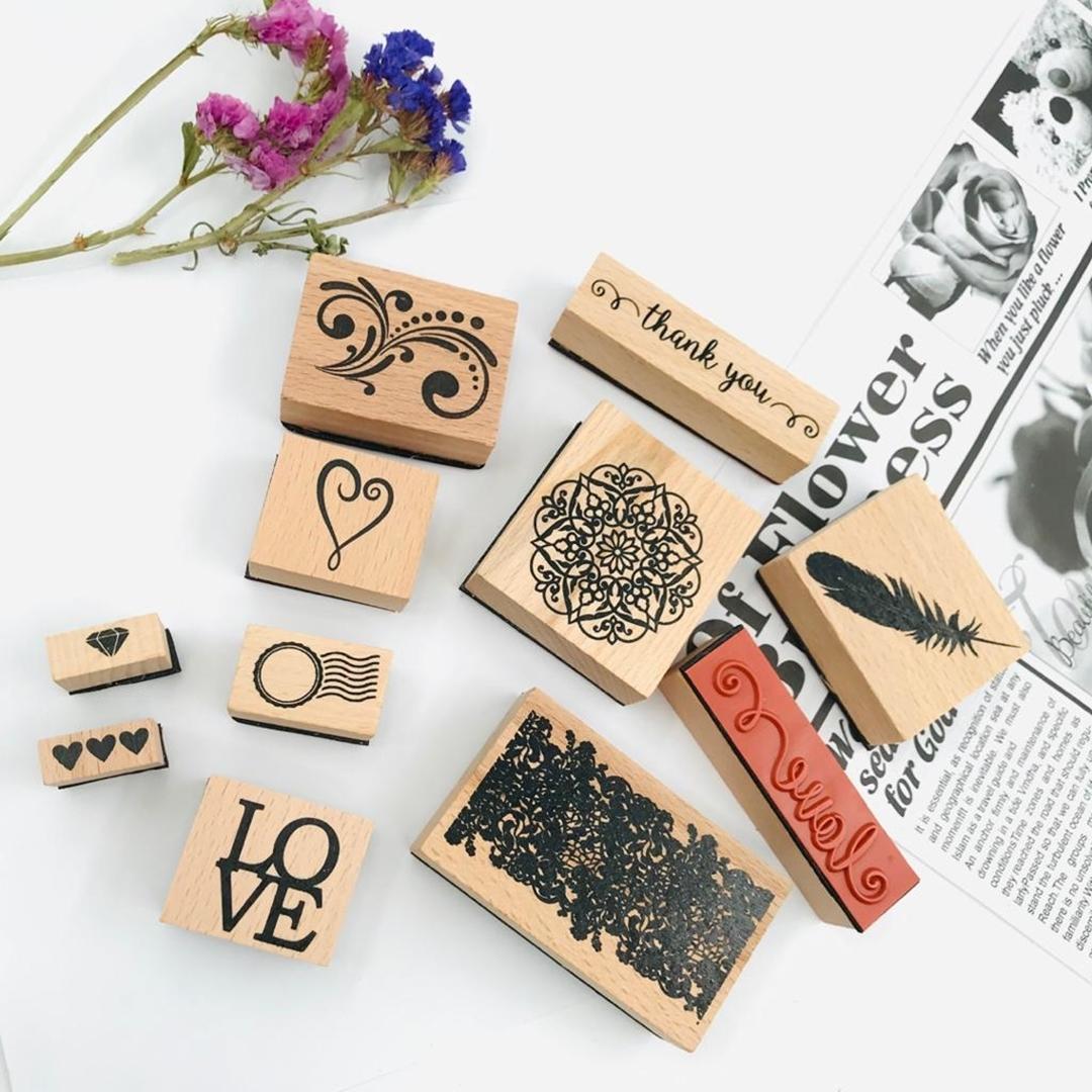 تصویر مهر چوبی طرح عشق Love
