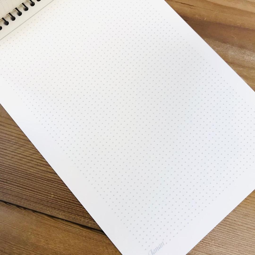 تصویر دفتر یادداشت نقطه ای مدل جانان