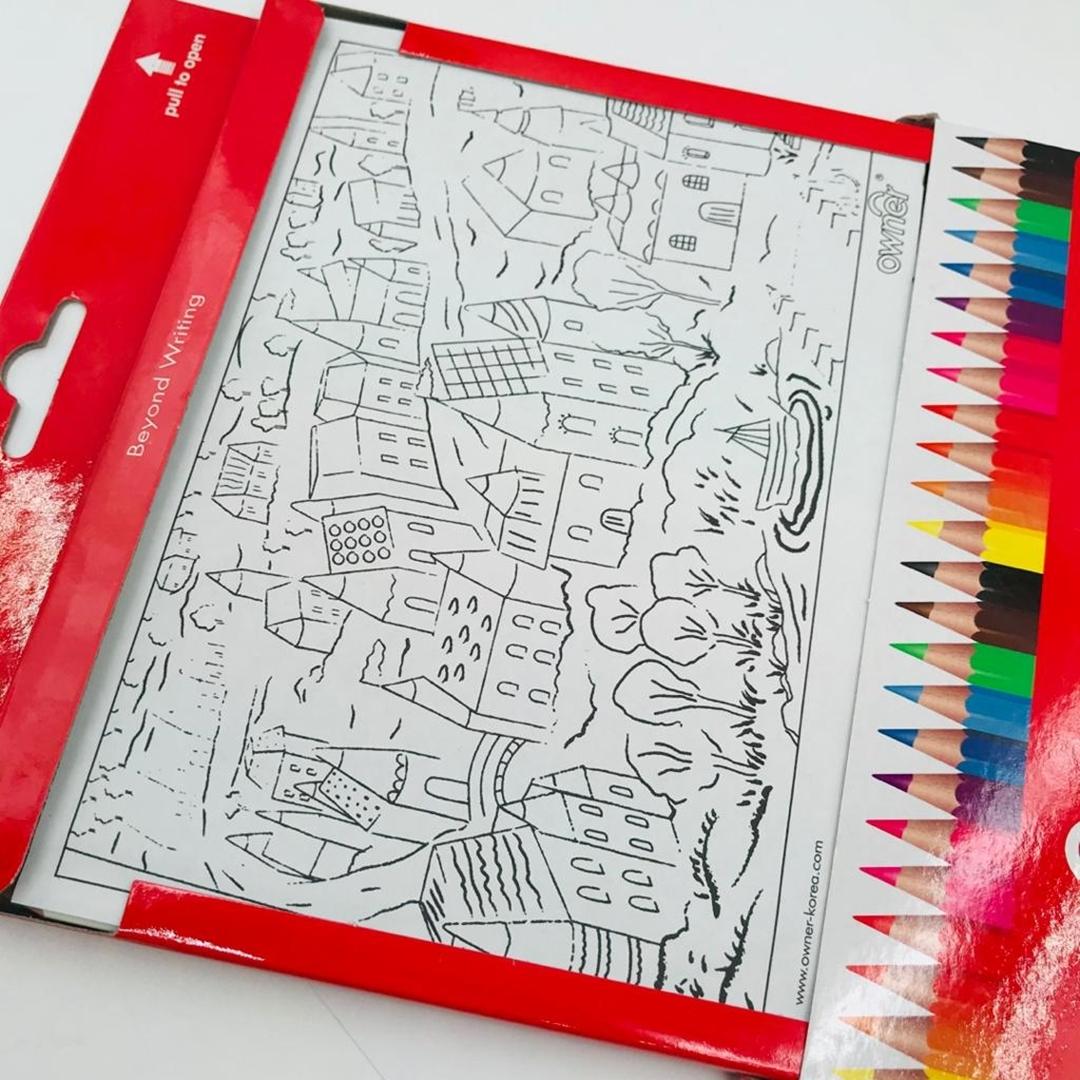 تصویر مداد رنگی 24 رنگ Owner