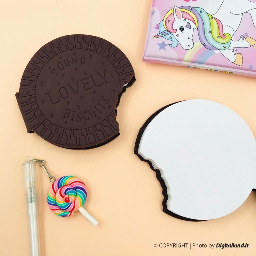 تصویر دفتر یادداشت بیسکوئیتی شکلاتی