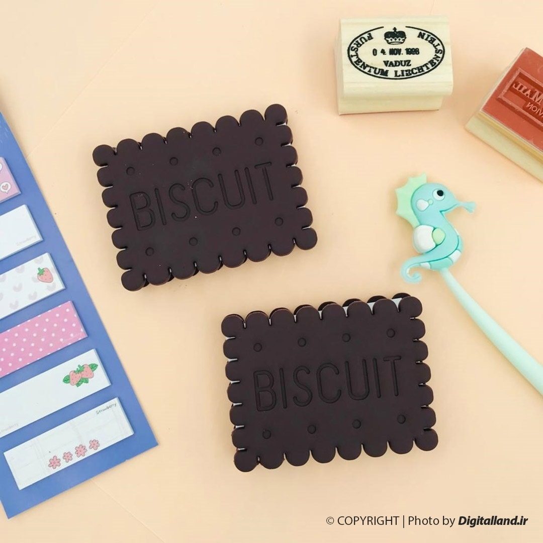 تصویر دفتر يادداشت پتی بور شکلاتی