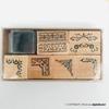 تصویر مهر چوبی طرح حاشیه همراه با استامپ