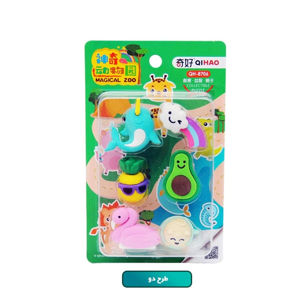 تصویر پاک کن QIHAO مدل Magical Zoo QH-8706
