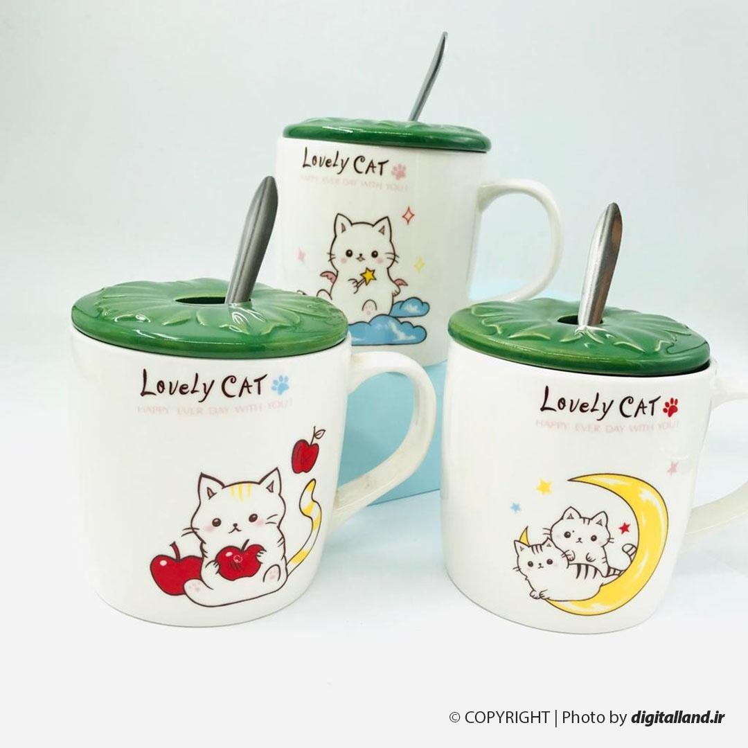 تصویر ماگ گربه طرح Lovely Cat