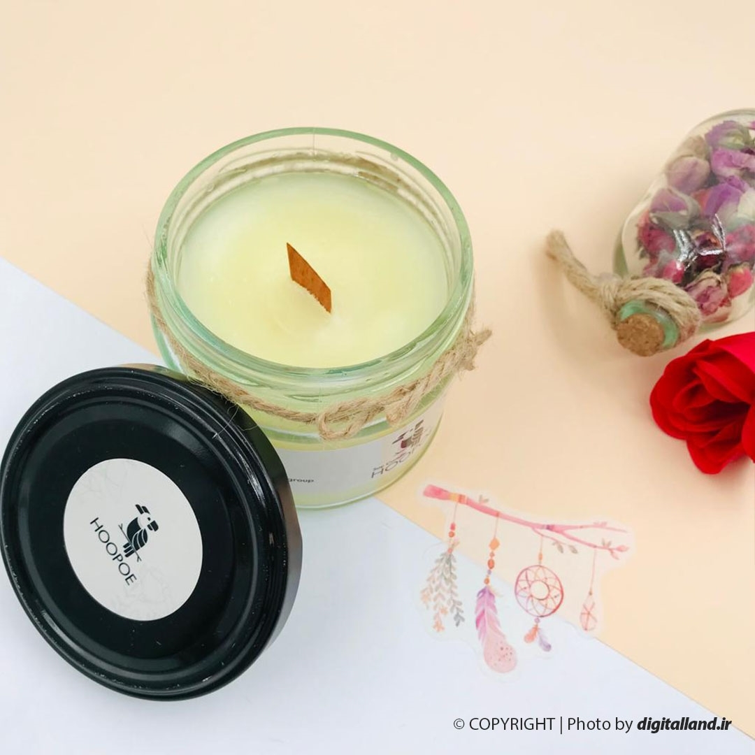 تصویر شمع عطری Hoopo مدل شیشه گرد