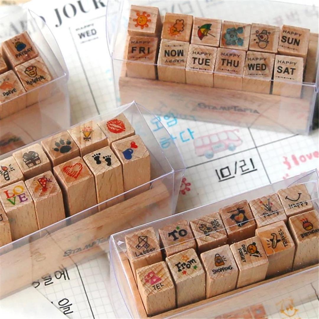 تصویر مهر چوبی 12 عددی Tiny