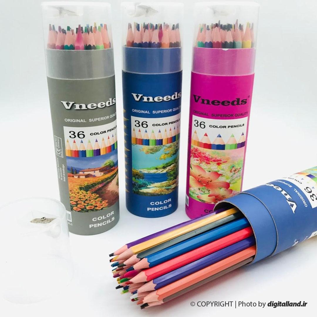 تصویر مداد رنگی 36 رنگ Vneeds
