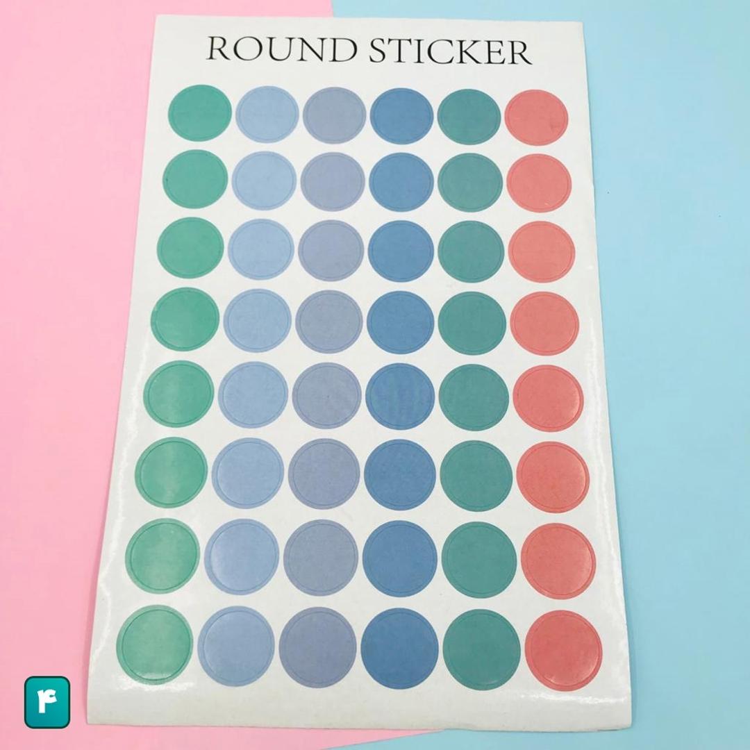 تصویر استیکر دایره ای Round Sticker