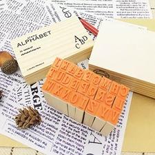 تصویر مهر چوبی الفبا Alphabet جعبه سفید